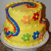 Rainbow Hippie Chick Cake