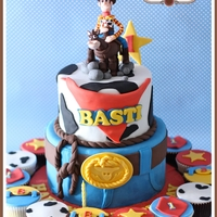 Toy Story Cake - Woody & Bullseye For a very handsome young man ? as he turns 1.