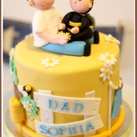 Little Bumble Bee With Daddy Here's hubby's 31st and Sophia's 4th month joint birthday cake. =)
