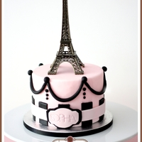 Oohh La La Paris Themed Cake My daughter's 5th month cake