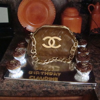 Chanel Purse And Cup Cakes chanel purse and cup cakes