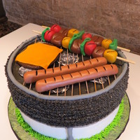 Grill   Grill cake using CC tutorial - thanks! Buttercream, fondant food