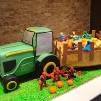 Cake Tractor Amp Hayride Fondant Pumpkins And Decorations Plastic Figures   Cake tractor & hayride, fondant pumpkins and decorations, plastic figures
