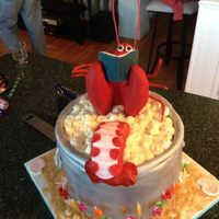 Lobster Birthday Cake My dear friend is from Prince Edward Island and I was allowed to make any cake with a maritime theme. What better than a lobster bathing in...