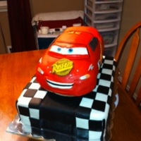 Cars Lightning Mcqueen This was a fun cake to make