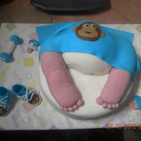 Baby Rump Monkey baby diaper...all decorations are MMF.