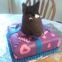 Horse Birthday Gift Birthday cake for my daughter the year she got her horse.