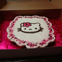 Hello Kitty Cupcake Cake   vanilla cupcakes w/cream cheese buttercream icing...still practicing...=)