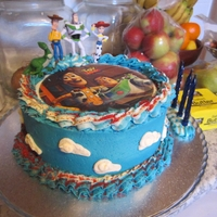 Toy Story 3 Boys Birthday Cake My Son LOVES Toy Story and I didnt have much time, so an edible image and a few fingurines worked a treat for him! I wanted to get the...
