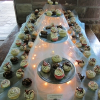 Wedding Cupcakes I made these for my brother's wedding that was held at a state park in a pavilion. You can't tell by the picture but I used 2...