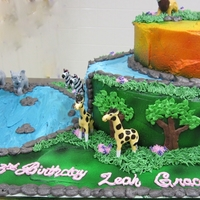 Jungle Safari Cake This was for a 3 year olds birthday. Only my second time using my airbrush. I really liked how it turned out! I purposely left the...