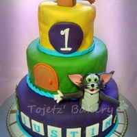 "Tom And Jerry 3-Tier Cake An all edible three-tier cake (8""x3"", 6""x3"" and 4""x3"") in moist chocolate, red velvet and buttery vanilla..."