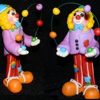 Challenge Project For Cake Club Our theme this year for our cake show is Under The Big Top, so to make sure we had something for our theme, we all made clowns for one of...