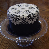 Lace Cake Made With Fondant And Royal Icing.