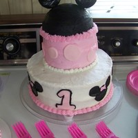 1St Birthday--Minnie Mouse