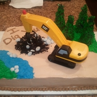 I Dig You This cake was a groom's cake. Used buttercream, made rocks out of fondant, and trees out of sugar cones.