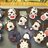 Doggone Cupcakes Chocolate cupcakes made for a little girl who loves dogs.