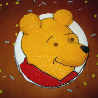 Winnie The Pooh Winnie the Pooh cake for a friend's bridal shower.