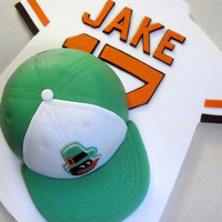 Jake Cake This was for a 9-year-old Orioles fan. He plays little league and his birthday is on St. Patrick's Day. By Sarah. EatItCakes.blogspot....