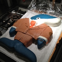 Coduroy Day Party- Hail The Wale ! Whale cake (wale) for Corduroy Day! 11-11-11