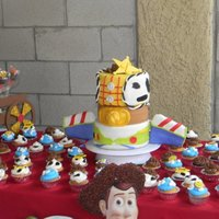Toy Story Toy Story themed cake. all fondant decor. (different post for cupcakes)