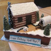 Little House On The Prairie Birthday cake for the daughter of a dear friend of mine who loves the Little House TV series. I wanted to make a furry Jack, but was too...