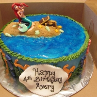 Little Mermaid Cake Little Mermaid figurine is plastic. All other decorations are edible.