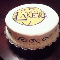 Lakers Grooms Cake