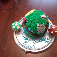 Super Mario Galaxy Cake Make this for my nephew. It was the first time I did anything like this.