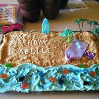 Beach Scene This was the first cake I ever made! :) It was for my daughter's birthday a few years ago.