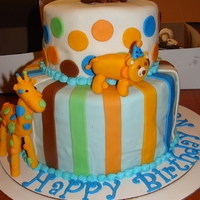 Colourful Animals Cake