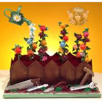 How Does Your Garden Grow? *Fun cake for a retiree that loves gardening and tools!