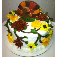 Super Quick & Easy Thanksgiving Cake   This is just a super quick and easy bakery style Thanksgiving cake! Turkey is chocolate. Gobble, Gobble!