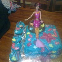 Mermaid Sitting On A Rock Cake