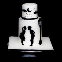 Silhouette Wedding Cake Silhouette wedding cake.