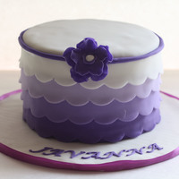 Purple Ombre Cake Purple ombre cake.