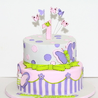 Butterfly First Birthday Cake Butterfly First birthday cake
