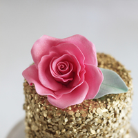 Edible Gold Sequins Cake Edible Gold Sequins Cake :-)