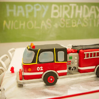 This Is The Fire Truck Cake That I Made For My Sons 2Nd Birthday Fondant And Gum Paste Decorations This is the fire truck cake that I made for my son's 2nd birthday. Fondant and gum paste decorations.