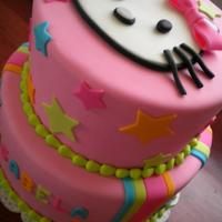 Pink Hello Kitty Birthday Cake *Pink Hello Kitty Birthday Cake