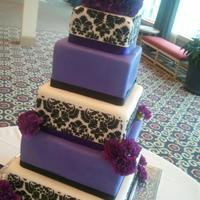 Purple And Black Damask Purple and black damask