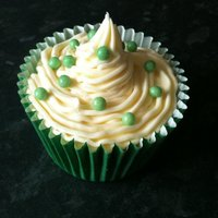 Green Sugared Balls Cupcake