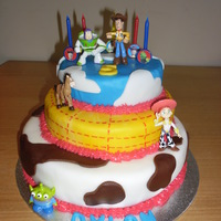 Toy Story 3-Tier Birthday Cake My 1st 3-tier cake for my sons 5th birthday
