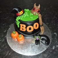 Witches Cauldron Halloween Cake