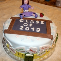 A Last Day Of School Cake This was a cake for my step-sons class on their last day of school. It is a 2 layer yellow cake with a chocolate butter cream filling. The...