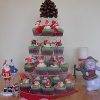 Christmas Cupcakes Chocolate With Chocolate Ganache Fillings Christmas cupcakes ( Chocolate with chocolate ganache fillings.
