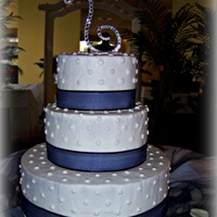 Lindsey And Wes Wedding Cake This was a simple, elegant design, and I think it turned out just lovely. Rather than placing it directly on the table, I lifted it up on a...