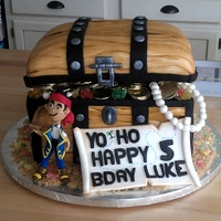 Jake And The Neverland Pirates Cake! Vanilla and chocolate cake with vanilla and chocolate buttercream.