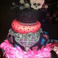 Monster High Birthday Cake Monster High Cake, three tier, iced in BC, covered with fondant.