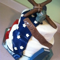 American Flag This was for an elderly gentleman that was in the military and is also a Gideon. All fondant